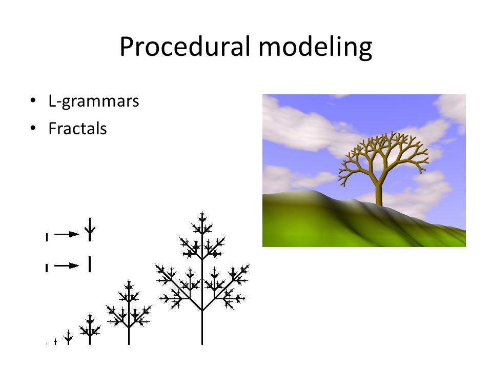 Procedural modeling L-grammars Fractals