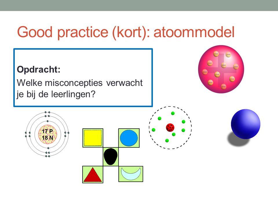 Good practice (kort): atoommodel Opdracht: Welke misconcepties verwacht je bij de leerlingen?