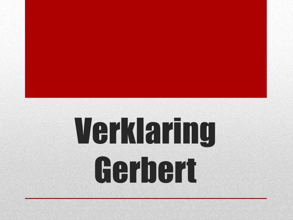 Verklaring Gerbert