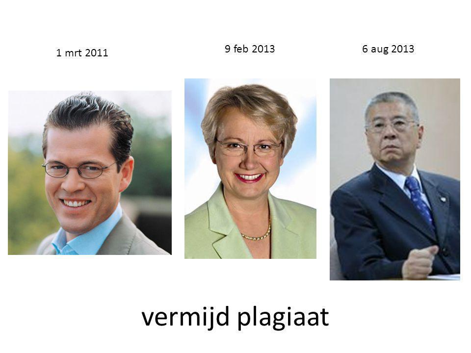 vermijd plagiaat 6 aug 20139 feb 2013 1 mrt 2011