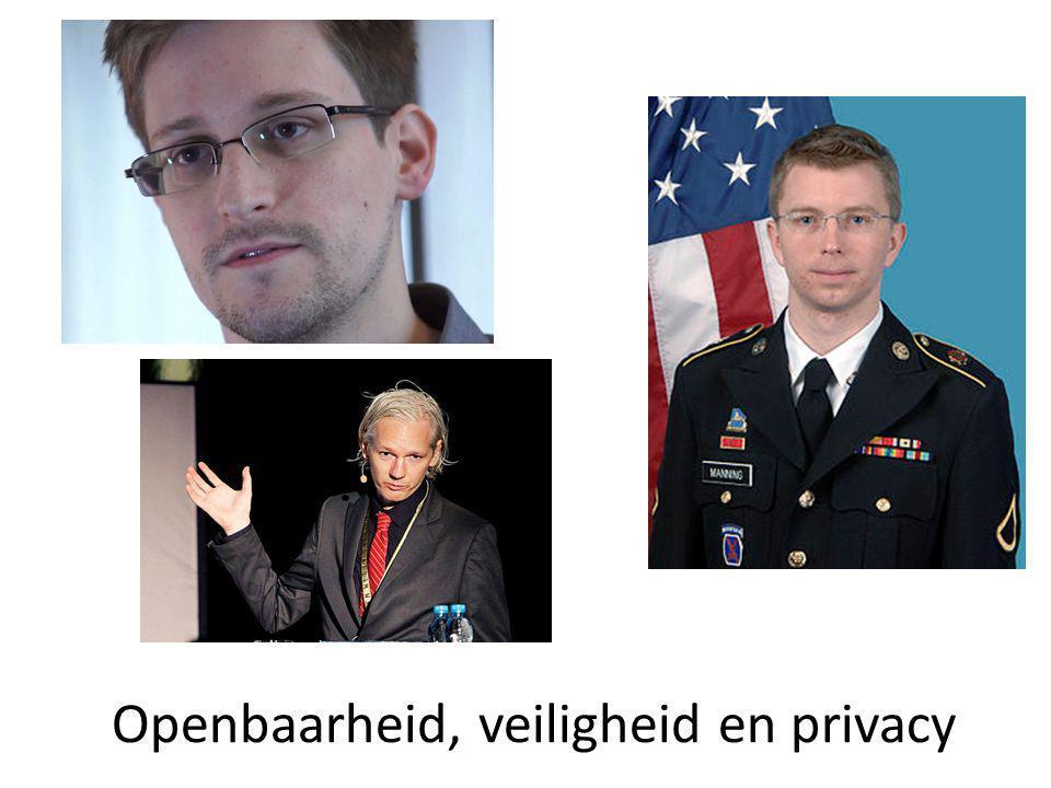 Openbaarheid, veiligheid en privacy