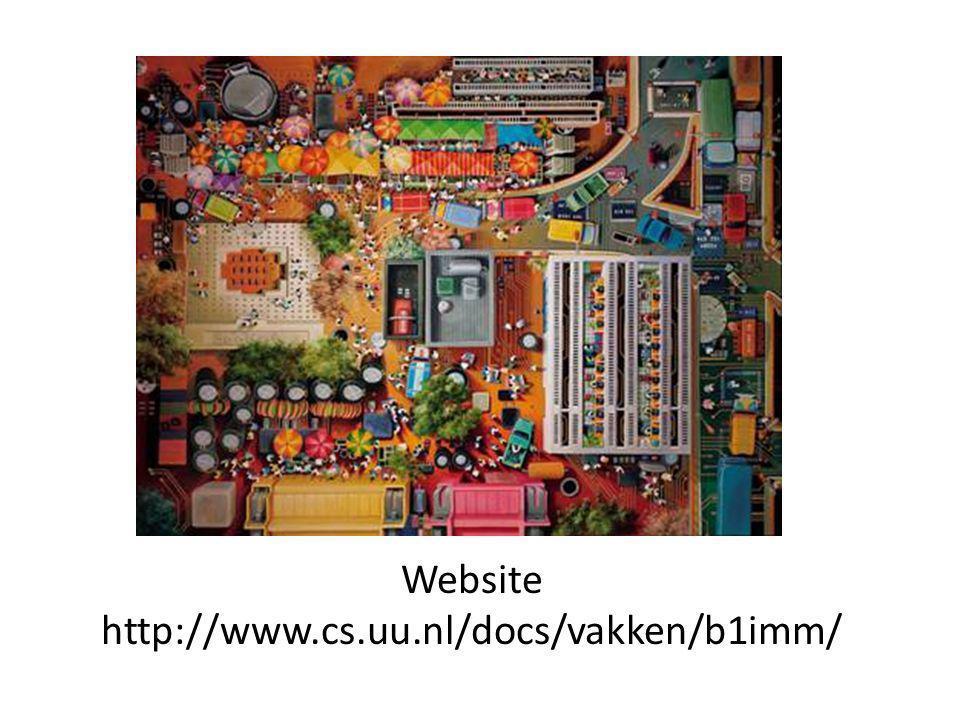 Website http://www.cs.uu.nl/docs/vakken/b1imm/
