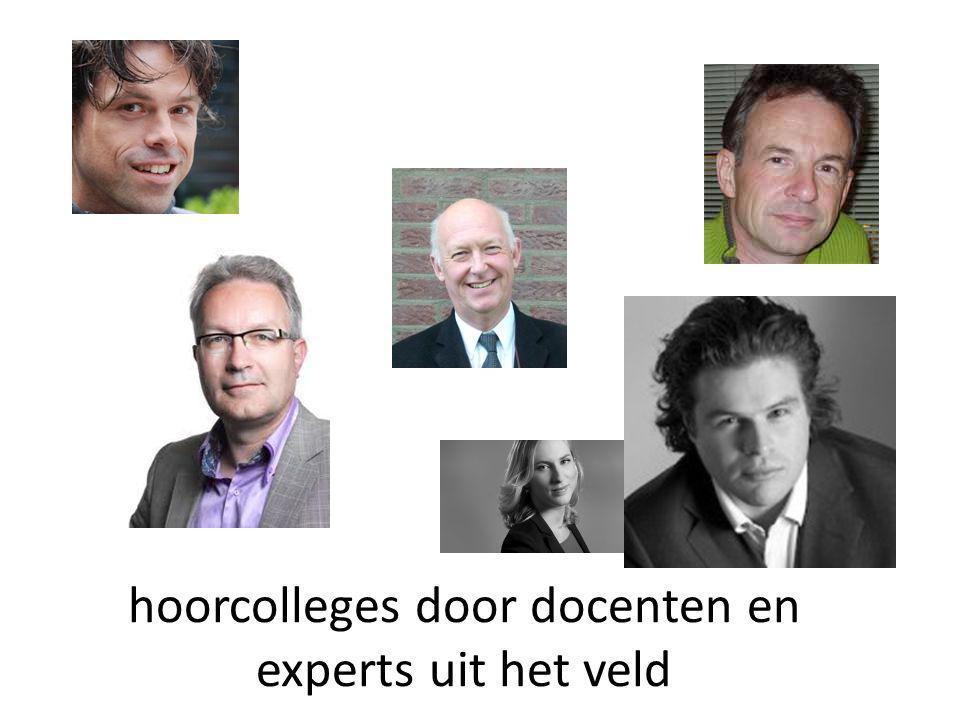 hoorcolleges door docenten en experts uit het veld