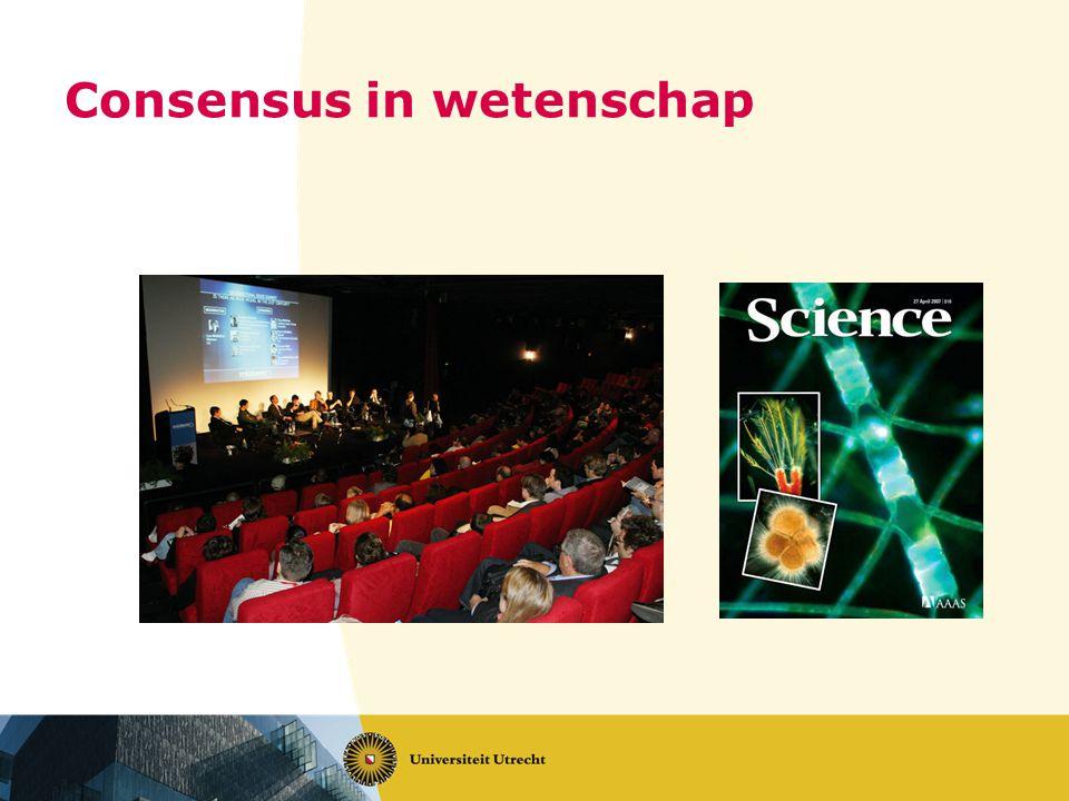Consensus in wetenschap