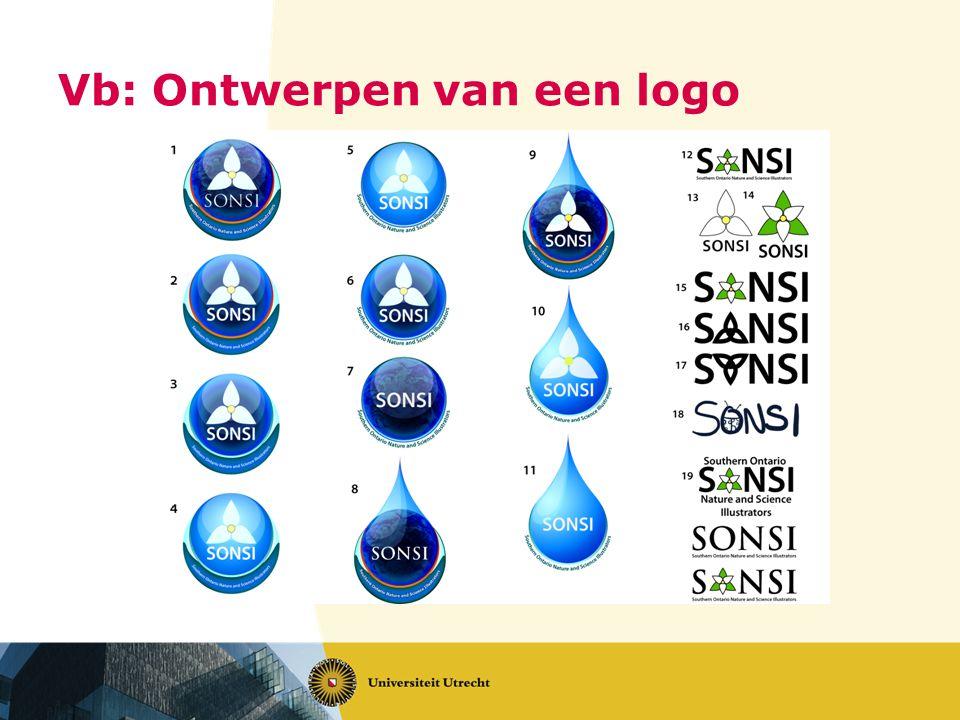 Vb: Ontwerpen van een logo