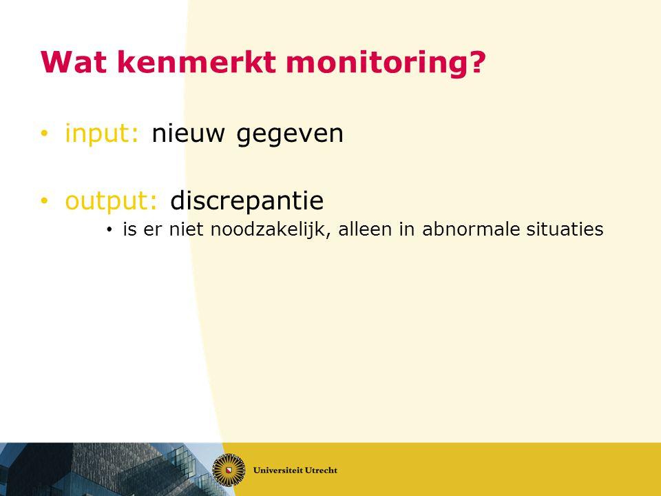 Wat kenmerkt monitoring.