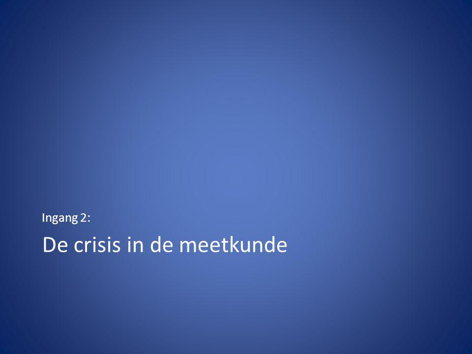De crisis in de meetkunde Ingang 2: