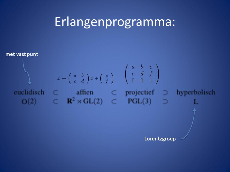 Erlangenprogramma: Lorentzgroep met vast punt