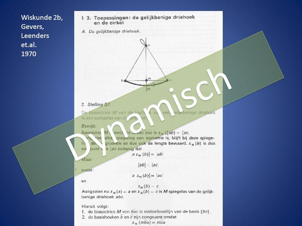 Wiskunde 2b, Gevers, Leenders et.al. 1970 Dynamisch