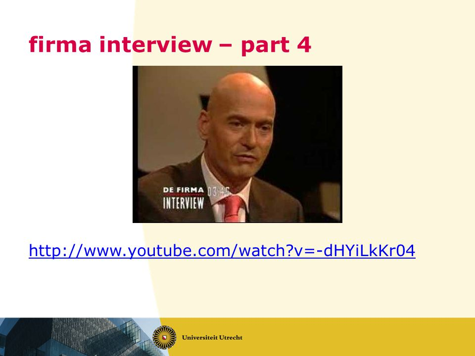 firma interview – part 4 http://www.youtube.com/watch v=-dHYiLkKr04