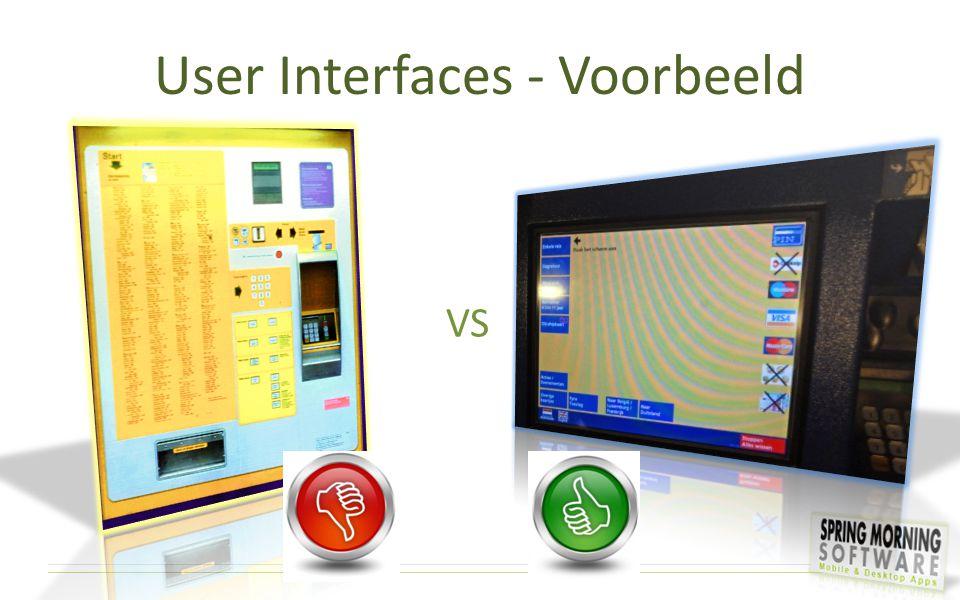 User Interfaces - Voorbeeld VS
