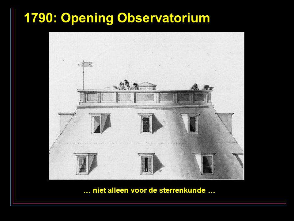 22 1790: Opening Observatorium … niet alleen voor de sterrenkunde …