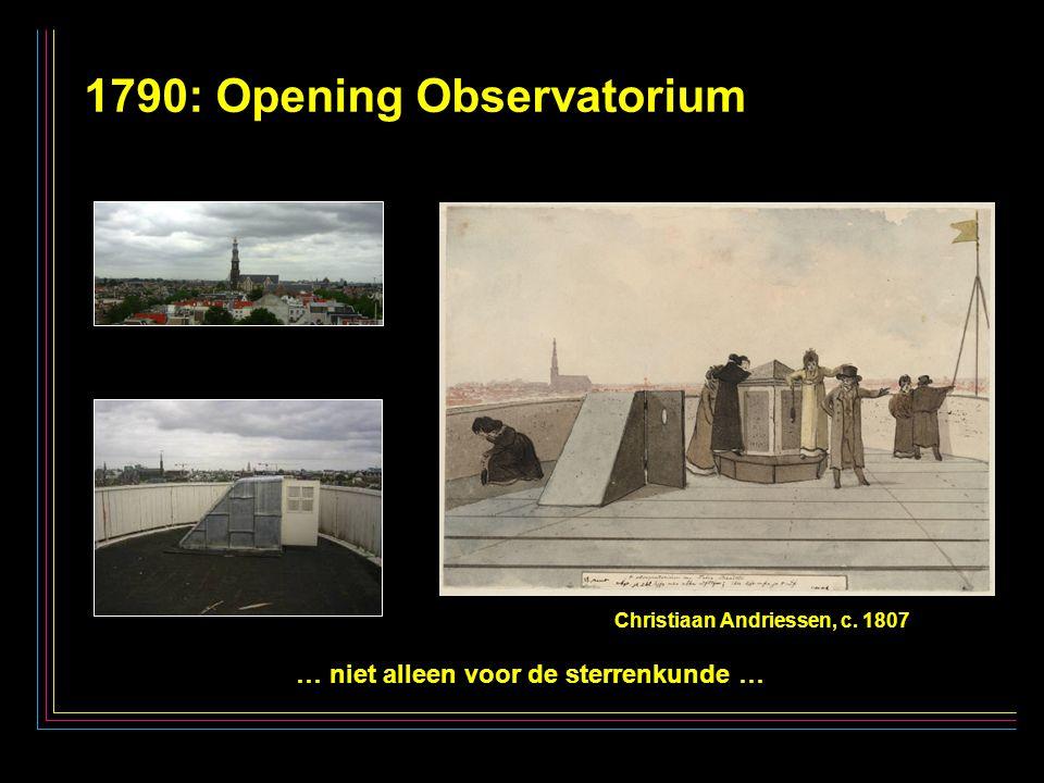 23 1790: Opening Observatorium … niet alleen voor de sterrenkunde … Christiaan Andriessen, c. 1807