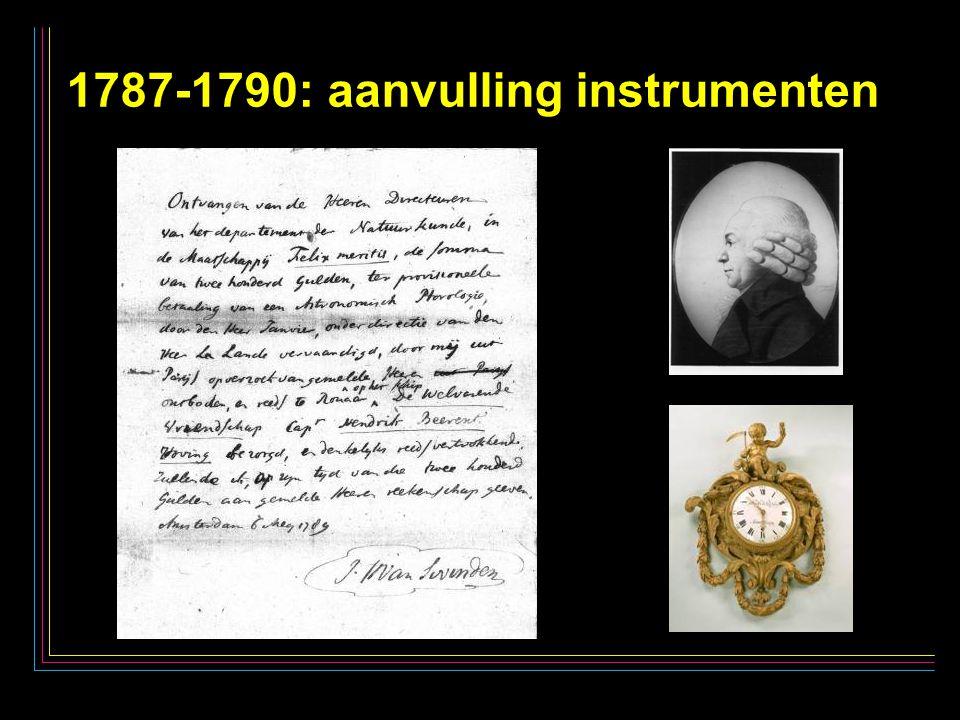 24 1787-1790: aanvulling instrumenten