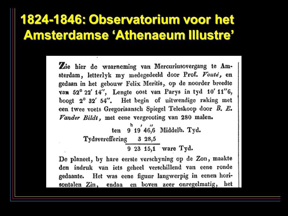 26 1824-1846: Observatorium voor het Amsterdamse 'Athenaeum Illustre'