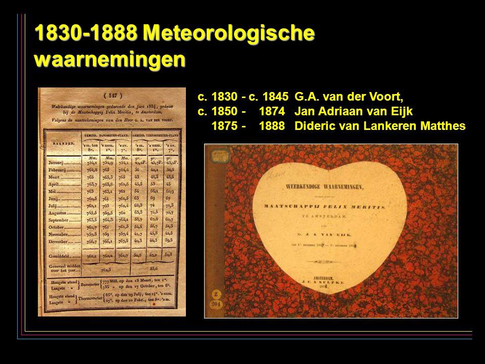27 1830-1888 Meteorologische waarnemingen c. 1830 - c.