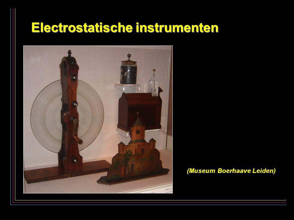 4 Electrostatische instrumenten Electrostatische instrumenten (Museum Boerhaave Leiden)