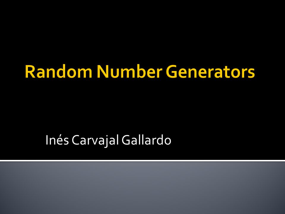  Salts  Nonces  Sessie-keys  Random priemgetallen The generation of random numbers is too important to be left to chance
