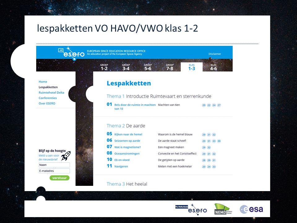 lespakketten VO HAVO/VWO klas 1-2