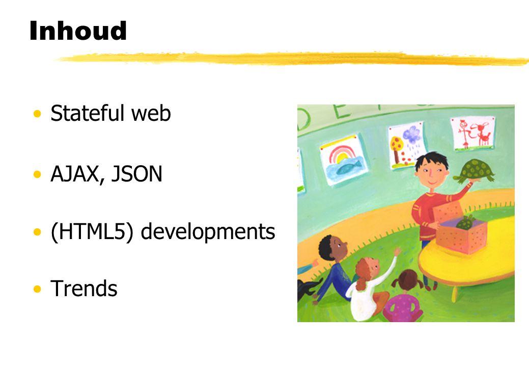 AJAX odds & ends Andere technologieën dan JavaScript, XHR en XML zijn mogelijk Andere client side scripting talen (maar welke dan?) Communicatie met de server via een iframe in plaats van het XHR object...