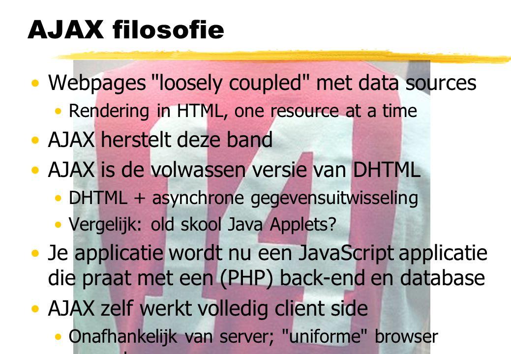 Hardcore AJAX voorbeeld a