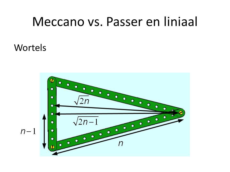 Meccano vs. Passer en liniaal Wortels