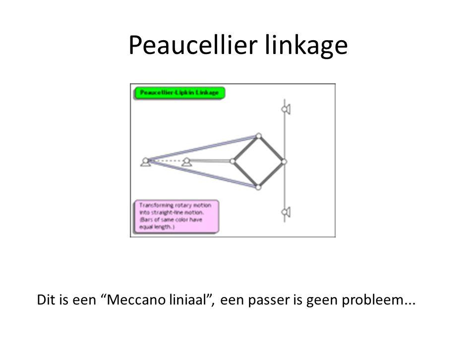 """Peaucellier linkage Dit is een """"Meccano liniaal"""", een passer is geen probleem..."""