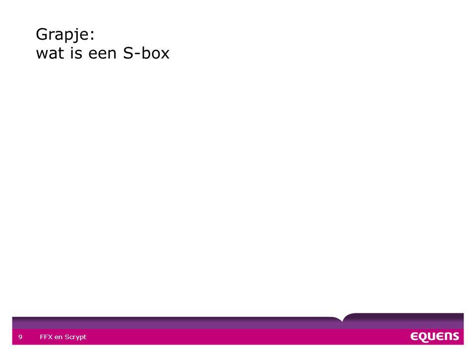 FFX en Scrypt 9 Grapje: wat is een S-box