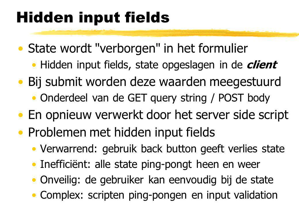 Hidden input fields State wordt