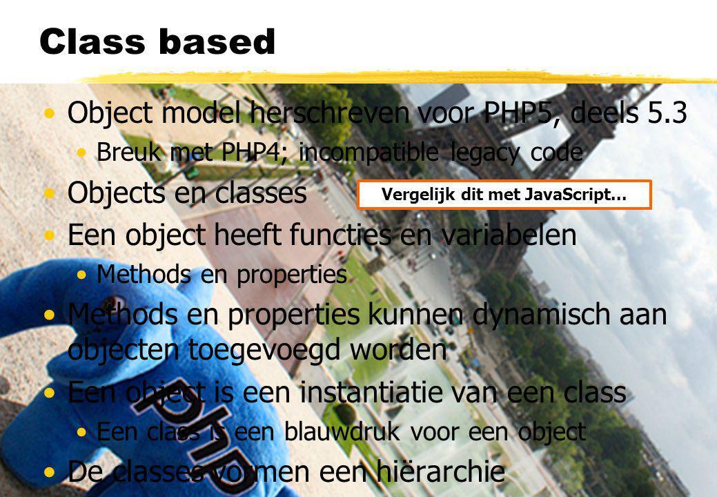 Objecten class Cart { private $items; // Pas op.