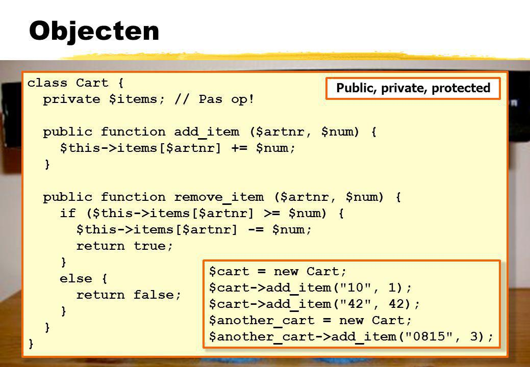 Feitelijk het opbouwen van state in de URL Bij gebruik van GET Generiek principe Alle state aan elke link toevoegen als query string Form action wordt het script met de state tot nu toe Maar pas op...