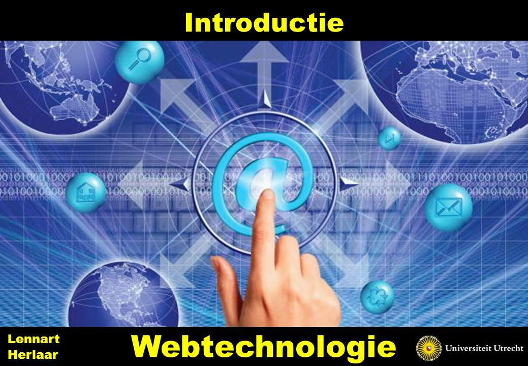 The web programming environment 32 Webtechnologie Lennart Herlaar