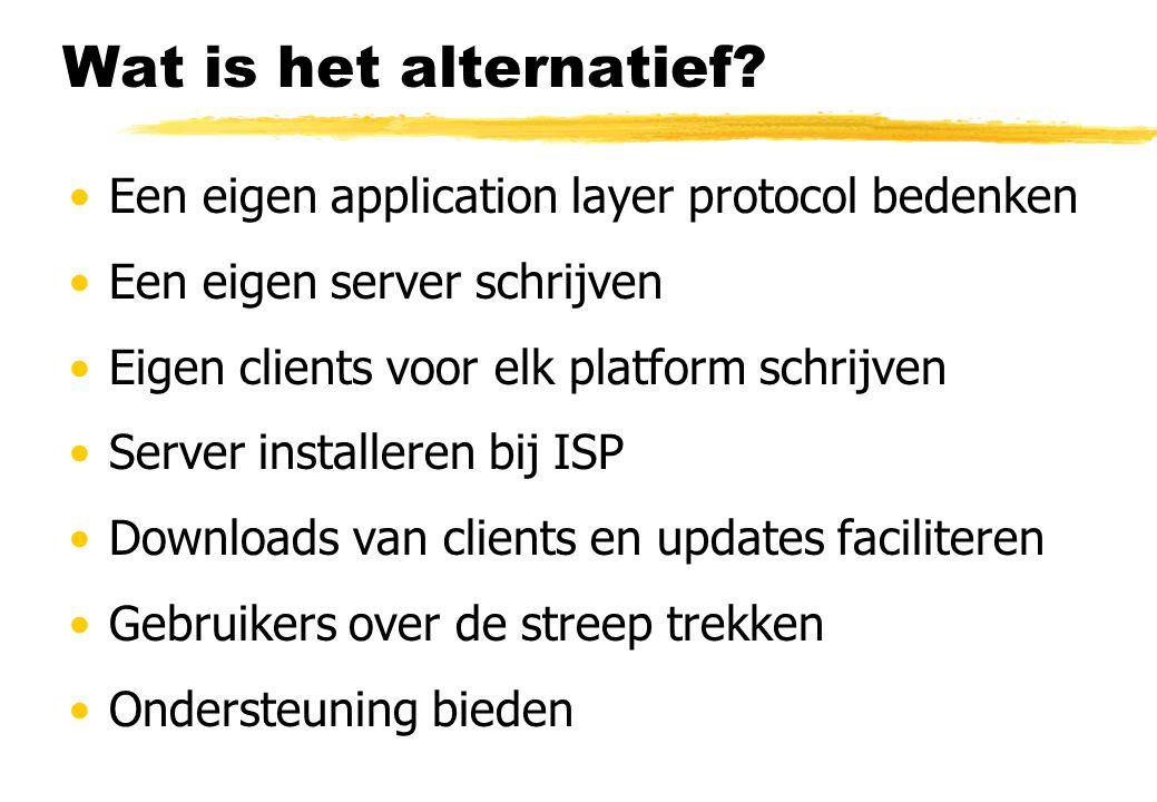 Wat is het alternatief.