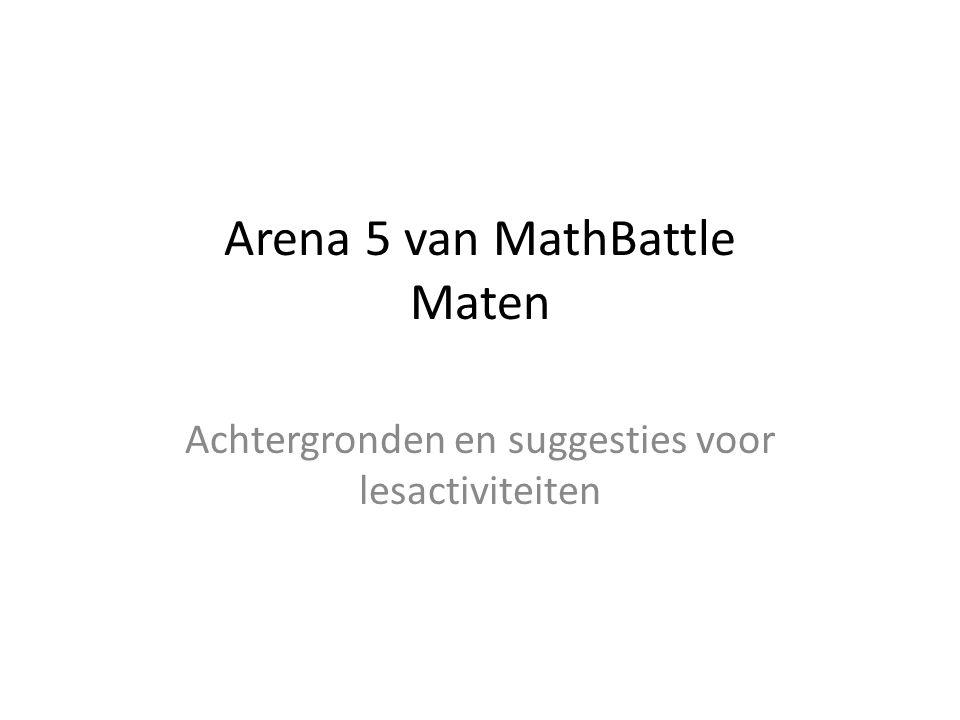 Arena 5 van MathBattle Maten Achtergronden en suggesties voor lesactiviteiten