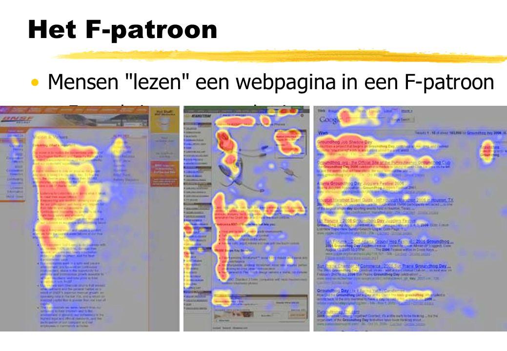 Het F-patroon Mensen