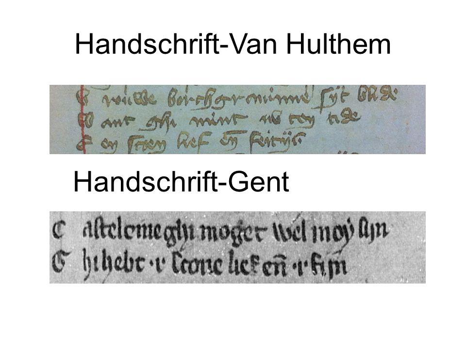 Handschrift-Van Hulthem Handschrift-Gent