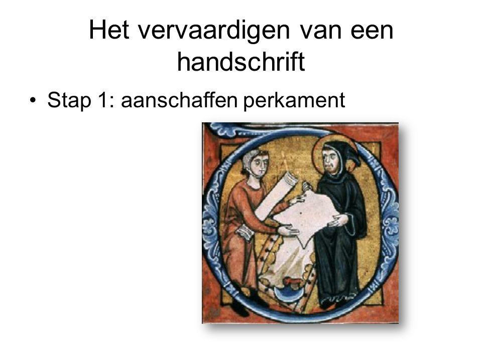 Het vervaardigen van een handschrift Stap 1: aanschaffen perkament