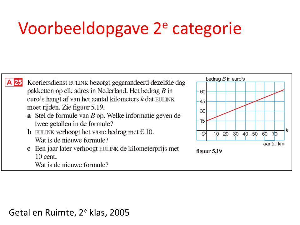 Voorbeeldopgave 2 e categorie Getal en Ruimte, 2 e klas, 2005