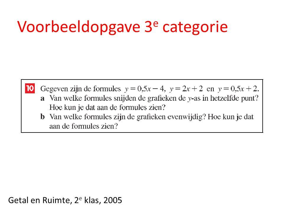 Voorbeeldopgave 3 e categorie Getal en Ruimte, 2 e klas, 2005