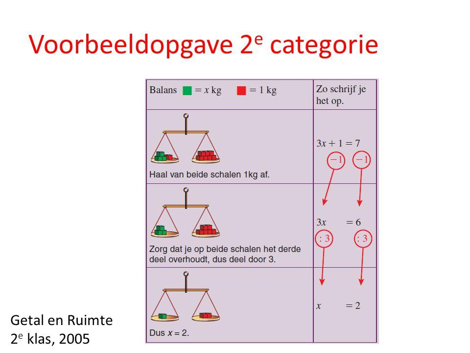 Voorbeeldopgave 2 e categorie Getal en Ruimte 2 e klas, 2005