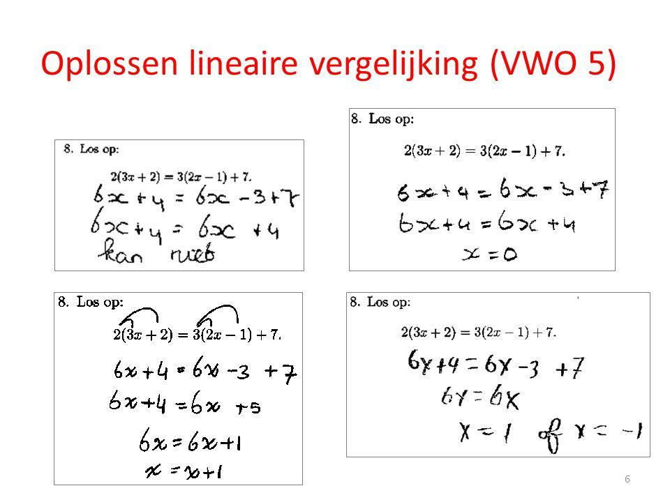 Oplossen lineaire vergelijking (VWO 5) 6