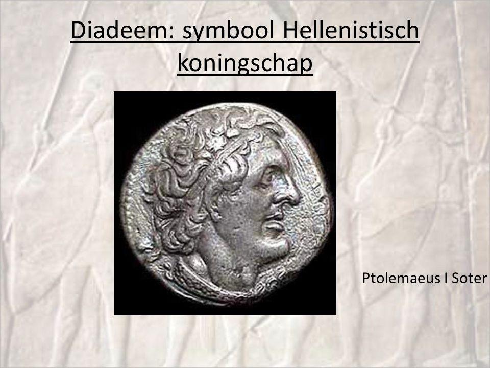 Diadeem: symbool Hellenistisch koningschap Ptolemaeus I Soter
