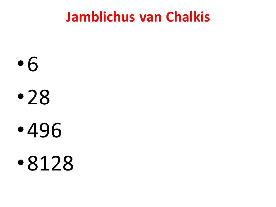 Jamblichus van Chalkis 6 28 496 8128