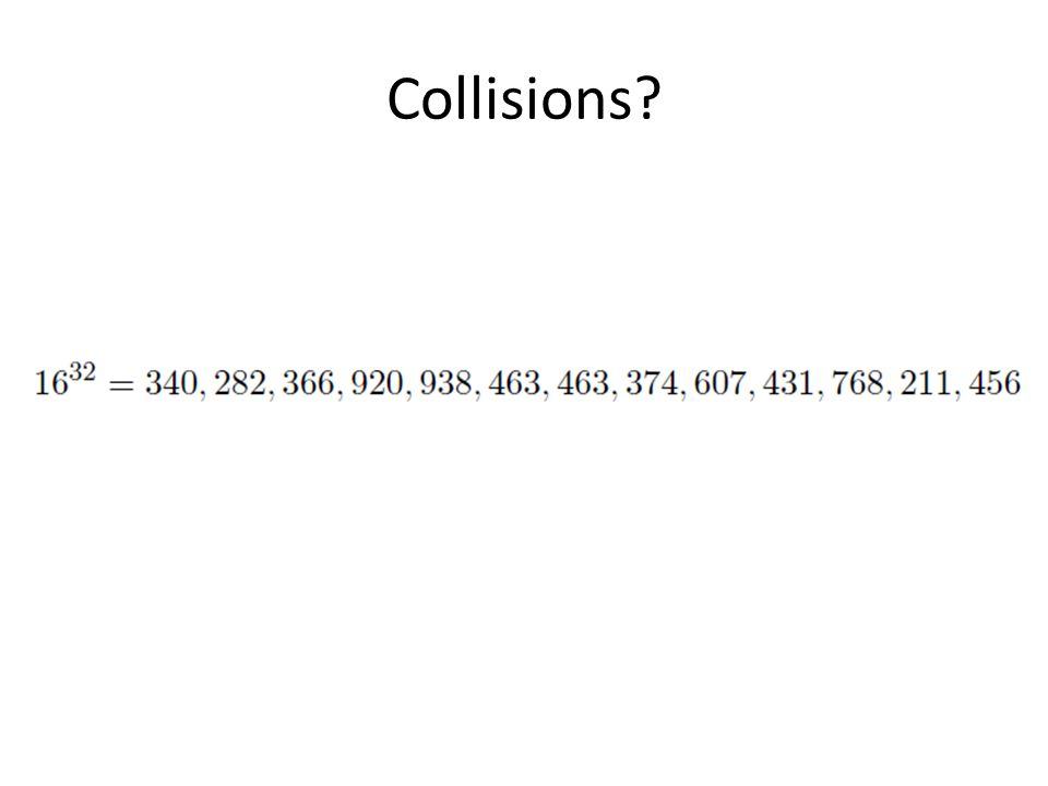 Collisions?
