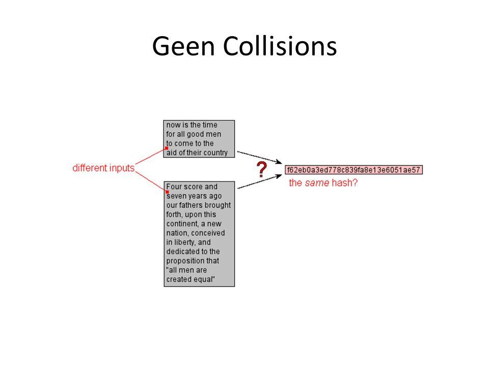 Geen Collisions