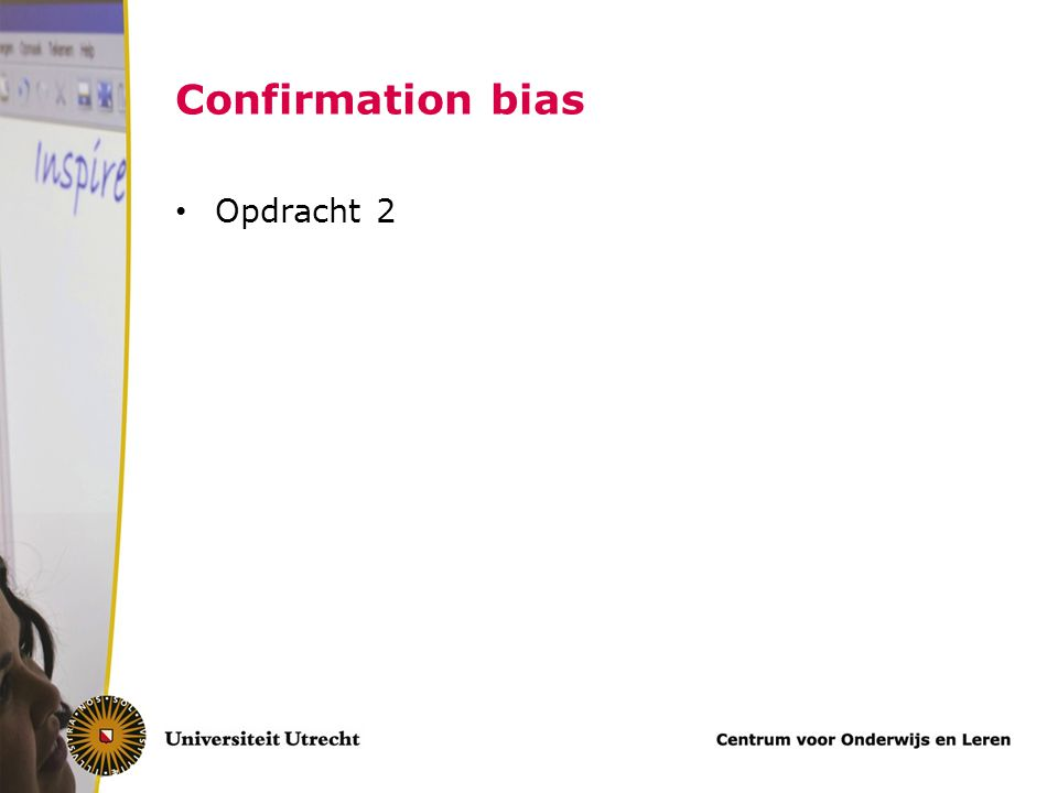 Confirmation bias Opdracht 2