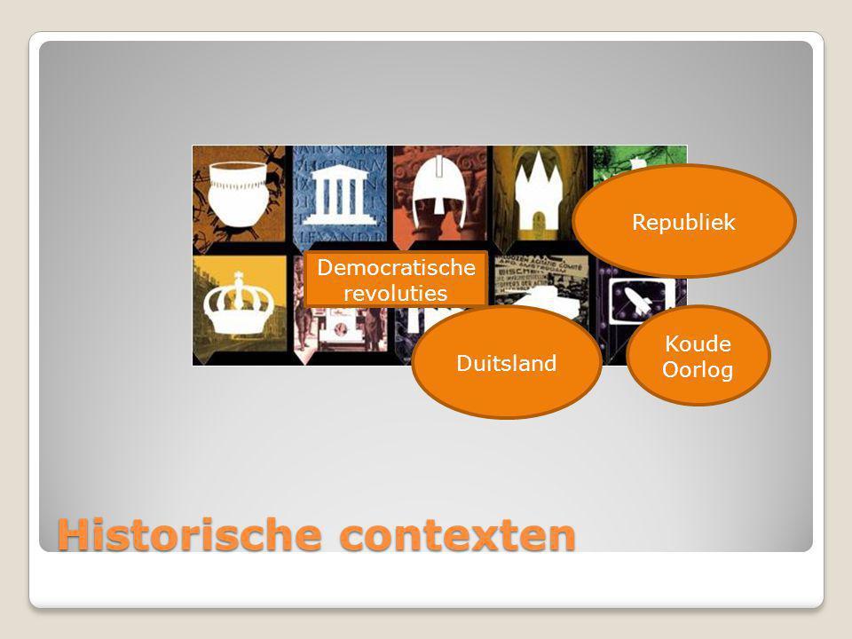 Historische contexten Republiek Duitsland Koude Oorlog Democratische revoluties