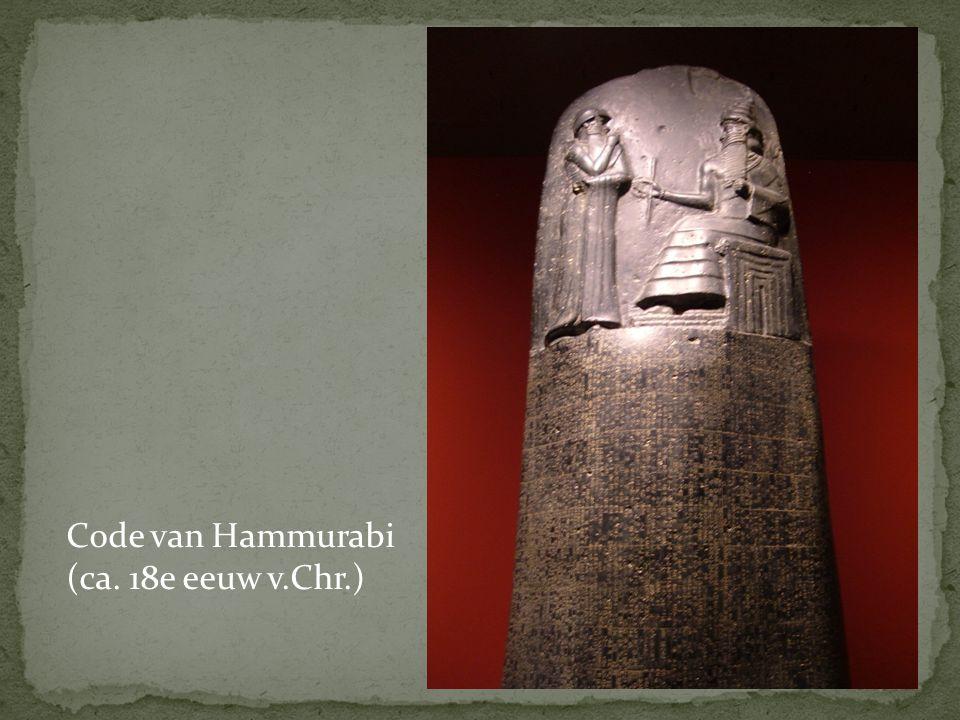 Code van Hammurabi (ca. 18e eeuw v.Chr.)