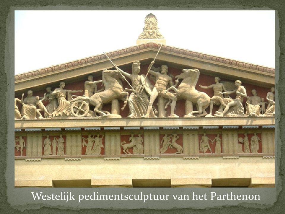 Westelijk pedimentsculptuur van het Parthenon