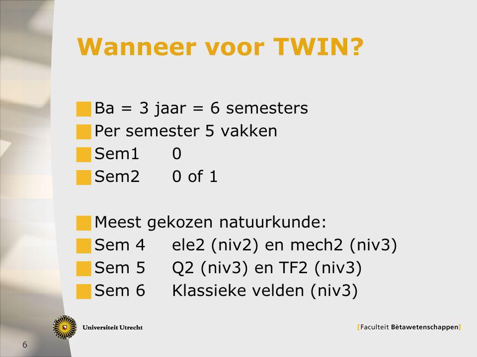 6 Wanneer voor TWIN.